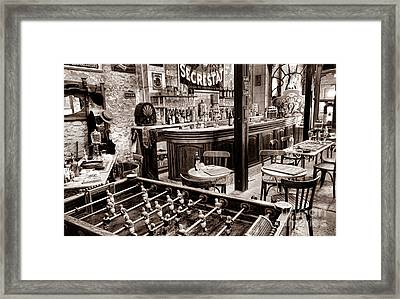 The Old French Bistro Framed Print by Olivier Le Queinec