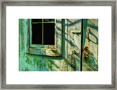 The Old Garage From Long Ago Framed Print by Michael Eingle
