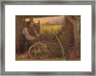 The Old Gardener Framed Print by Briton Riviere