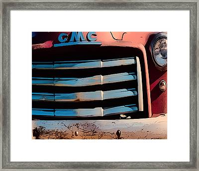 The Old Gmc At Pilar Framed Print
