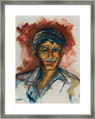 The Old Greek Man Framed Print by Elise Palmigiani