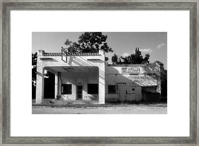 The Old Greyhound Station Framed Print