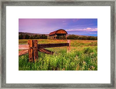 The Old Hay Barn Framed Print by John De Bord