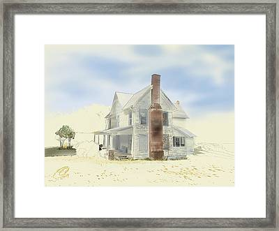 Framed Print featuring the painting The Home Place - Silent Eyes by Joel Deutsch