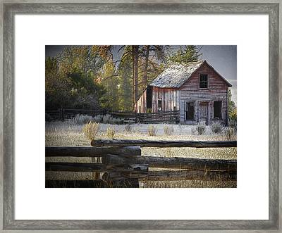 The Old Homestead Near Merritt Framed Print