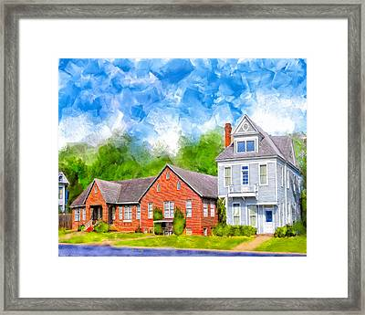 The Old Hospital - Montezuma Georgia Framed Print by Mark Tisdale
