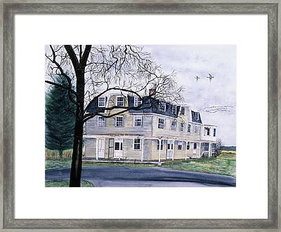 The Old Hotel Framed Print by Tom Dorsz