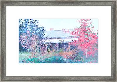 The Old House On The Hill Framed Print by Jan Matson