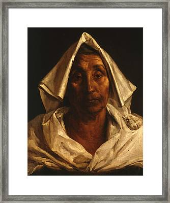 The Old Italian Woman Framed Print by Theodore Gericault
