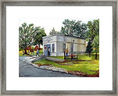The Old Jail Framed Print by Elaine Hodges