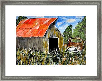 The Old Jimmy Framed Print by John Burch