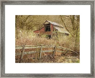 The Old Knob Creek Barn Tennessee Framed Print by Teresa A and Preston S Cole Photography