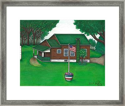 The Old Knob Schoolhouse Framed Print