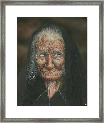 The Old Lady Framed Print by Connor Maguire