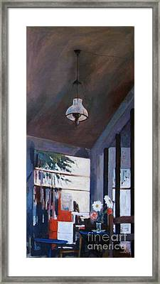 The Old Lamp Framed Print by George Siaba