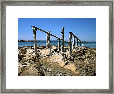 The Old Launch Framed Print by Oliver Johnston