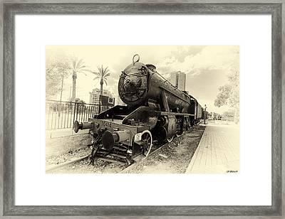 The Old Locomotive Framed Print
