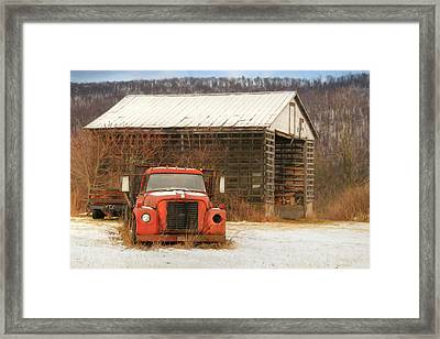 Framed Print featuring the photograph The Old Lumber Truck by Lori Deiter