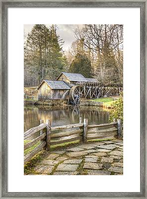 The Old Mabry Mill - Blue Ridge Parkway - Virginia Framed Print by Gregory Ballos