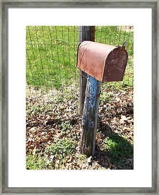 The Old Mailbox II - Digital Oil Painting Framed Print by Cody Cookston