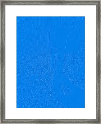 The Old Mailbox II - Embossed - Blue Framed Print by Cody Cookston