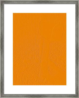 The Old Mailbox II - Embossed - Orange Framed Print by Cody Cookston