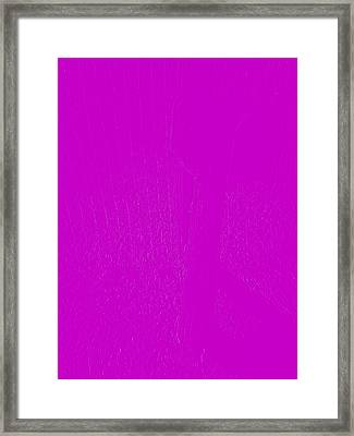 The Old Mailbox II - Embossed - Pink Framed Print by Cody Cookston