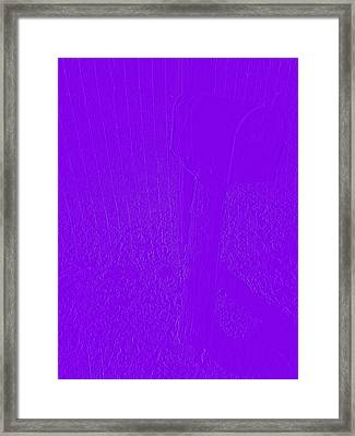 The Old Mailbox II - Embossed - Purple Framed Print by Cody Cookston