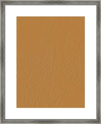 The Old Mailbox II - Embossed - Tan Framed Print by Cody Cookston