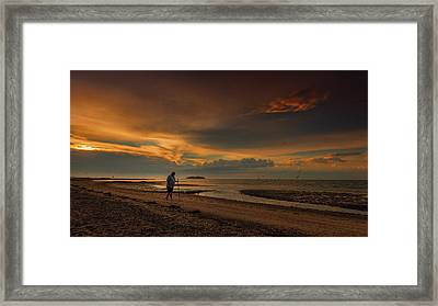 The Old Man And The Sea Framed Print by Elena Paraskeva
