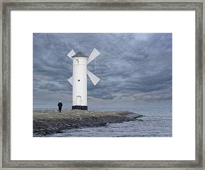 the old man at Stawa Mlyny Framed Print