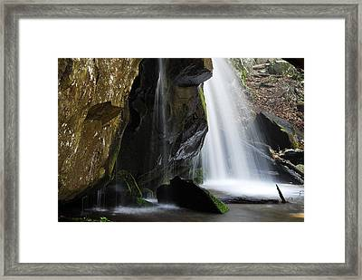 The Old Man Looking Down Framed Print by James Elam