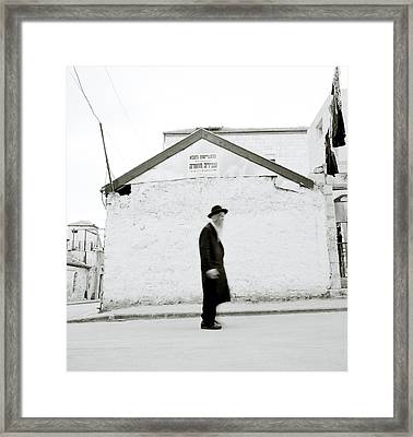 The Old Man Of Mea Shearim Framed Print by Shaun Higson