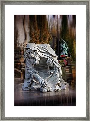 The Old Man Of Powazki Cemetery Warsaw  Framed Print by Carol Japp