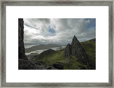 The Old Man Of Storr Framed Print by Dubi Roman