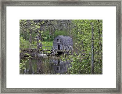 The Old Manse Boat House Framed Print