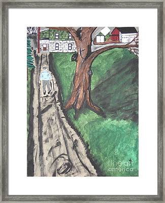 Framed Print featuring the painting The Old Meat Cutter Griff by Jeffrey Koss