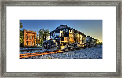 The Old Meets The New Wrightsville And Tennille R R Co Framed Print by Reid Callaway