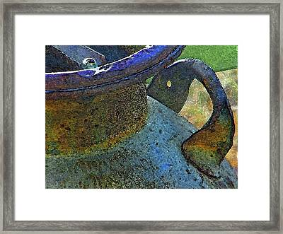The Old Milk Can Framed Print