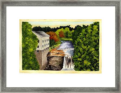 The Old Mill - Mill Creek Park Framed Print by Michael Vigliotti