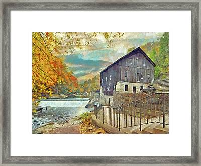 The Old Mill At Mcconnells Mill State Park Framed Print