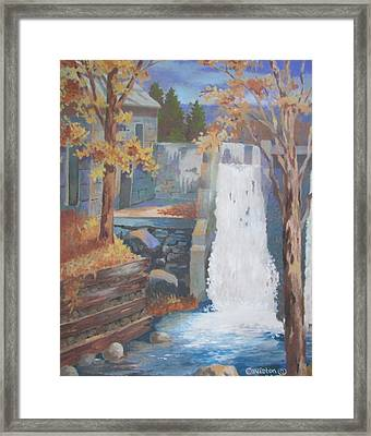 The Old Mill Falls Framed Print