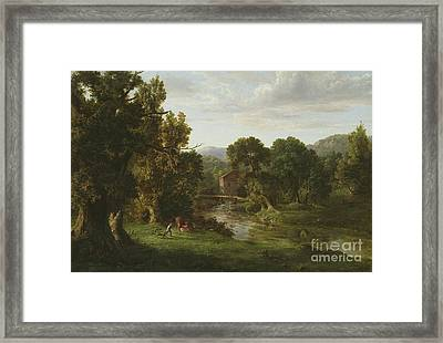 The Old Mill Framed Print by George Inness