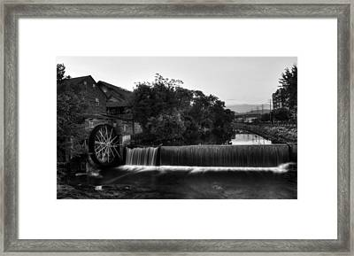 The Old Mill In Black And White Framed Print