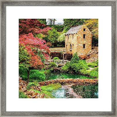 The Old Mill In Spring - Pughs Mill - North Little Rock Framed Print by Gregory Ballos