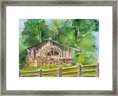 The Old Mill Framed Print by Kathy Mitchell