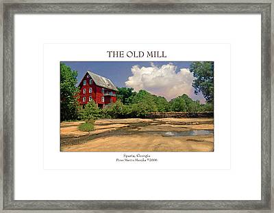 The Old Mill Framed Print by Peter Muzyka