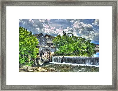The Old Mill Pigeon Forge Tn Framed Print