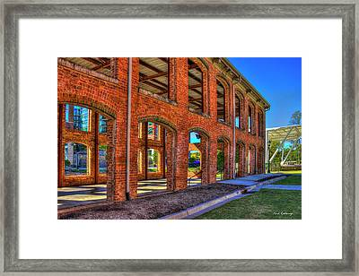 The Old Mill Wedding Venue Greenville South Carolina Art Framed Print