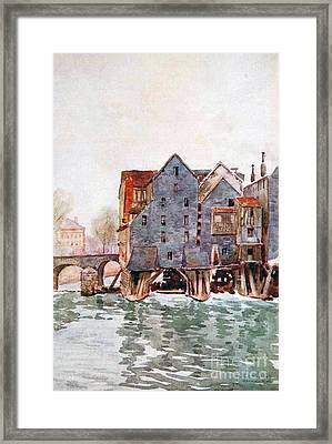 The Old Mills At Meaux Framed Print by MotionAge Designs